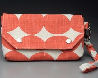 Wristlet / Wallet / Orange Wallet / Organizer / Clutch
