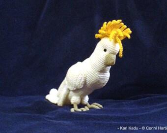 PDF crochet pattern amigurumi tutorial by Conni Hartig ebook cockatoo bird parrot parakeet