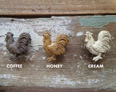 SALE--Drawer Pull Knob - Decorative Resin Country Rooster - 3 Styles to Choose
