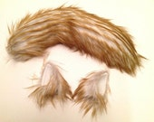 Wolf Ears and Tail  Blonde Husky Wolf Halloween Costume - -Anime, Fantasy, Cosplay. Burning Man