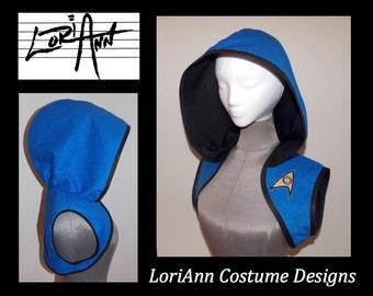 CUSTOM Commanding Gold Science Blue or Engineering Officer Star Trek Hoodie Shrug LoriAnn Costume Designs