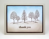 masculine thank you card - male thank you card - thank you card for a man - tree thank you card
