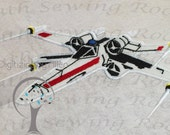 Star Wars X Wing Fighter Rebel Applique, Applique Embroidery Design