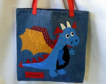 Dragon Costume Kids Tote Bag|Personalized Tote Bag|Gifts for Nephews|Gifts For Niece|Toddler Tote Bag|Halloween|Trick or Treat