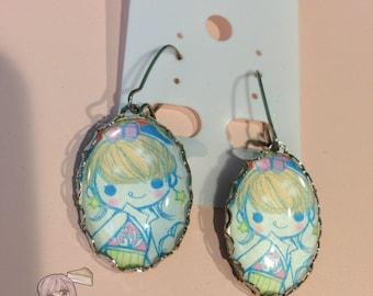 Kawaii Harajuku Girl Cameo Earrings