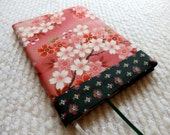 Japanese Cherry Blossoms Fabric Covered B6 Retro Notebook (Sample)
