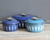 Blue Cathrineholm Enamelware Sauce Pan