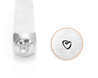 Fat Heart Design Stamp, SC158-J-3mm, Metal Stamp, Carbon Steel Design Stamp, ImpressArt Design Stamp, Fat Heart, Impress Art, Bopper