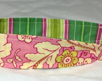 Childs Fabric Headband Girls Ready to Ship Reversible Heather Bailey Fabric Headband