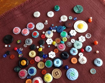 Small bag of Assorted, Vintage, Buttons and Beads
