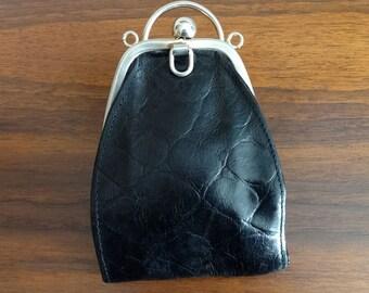 Small, Black Leather Purse