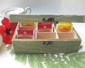& Wooden tea box | Etsy Aboutintivar.Com