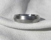 Titanium Ring or Wedding Band Knife Edge Burnished Finish