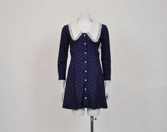 60s mini dress / Baby Doll Vintage 1960's Mod Mini Dress