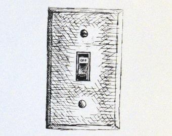 Screen Printed Light Switch