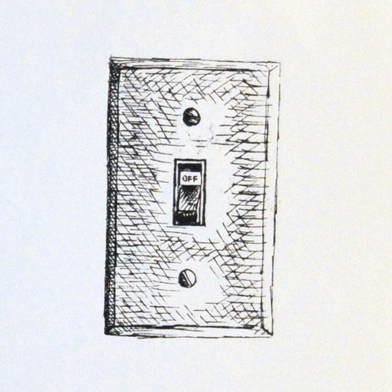 Screen Printed Light Switch