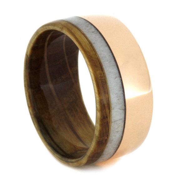 Rose Gold Antler Ring