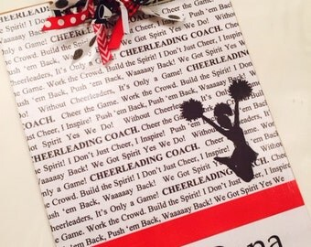 Cheerleading Coach Personalized Clipboard
