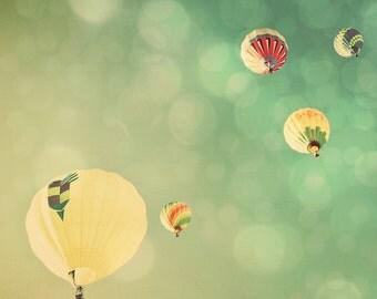 Sunshine and Big Sky. Hot Air Balloons Fine Art Photography Print. No. 3207