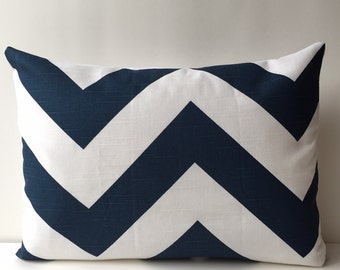 14x18 navy blue and white, chevron pattern