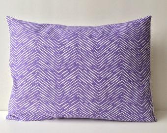 14x18 purple and white, chevron pattern
