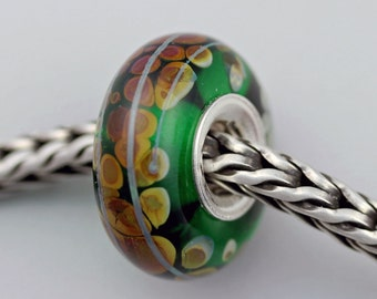 Speckled Raku Bead  - European Charm / Bracelet Bead (OCT-52)