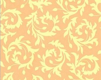 Heather Bailey Fabric LAST Yard Bijoux Swirly Buds Peach