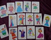 Vintage Set of Funny People Cards