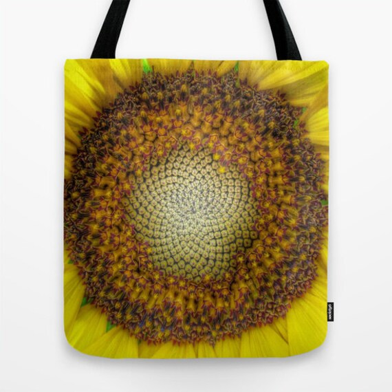 GHOST Sunflower Tote Bag, Contemporary Tote, Beach Tote, Surf Tote, Shoulder Bag, Market Tote, Vivid Tote, Yellow Tote, Holiday Tote, Flower