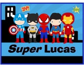 personalizedname pillow case superhero