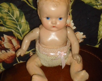 Charming Vintage Composition Baby Doll Antique Doll