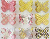 happy collection one - warm tones - paper butterfly decorative push pins - made to order