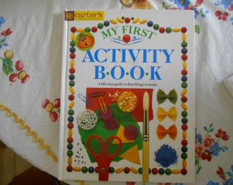 Vintage Large HB Book My First Activity Book By Angela Wilkes