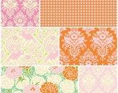 Clearance! Parasol by Heather Bailey Free Spirit Fabrics 6  Fat Quarter Bundle Pre-Cut