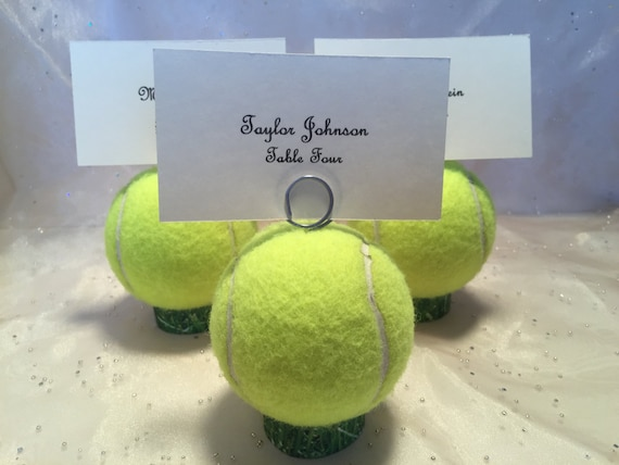 Tennis Ball Place Card Holders Table Holders Menu Holders