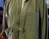 Pinwale Corduroy Jacket/1-2X/Cotton/Ruffle Edge/Tannish Sage/Fall '15.