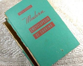 Modern Encyclopedia of Cooking, Meta Givens, 1957, Ninth Printing, Vintage Mid Century Cookbook, Recipes   (751-15)