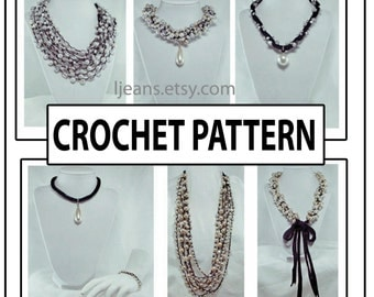Twisted Versatile Crochet Necklace Pattern