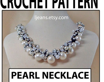Crochet Pearl or Beaded Necklace Pattern