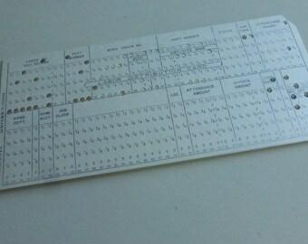Vintage Univac P-203593 Punch Cards   (20)