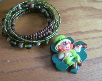 Wearing of green irish jewelry
