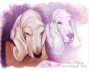 Dog Sympathy Memorial Cards Set of Three of the same blank cards