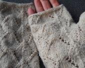 Alpaca  lacey fingerless gloves