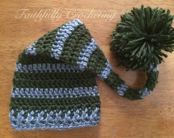 Newborn elf hat.. Long tail hat.. Photography prop.. Ready to ship