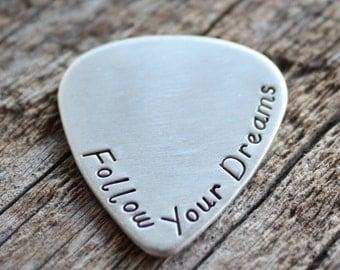 Guitar Pick - Sterling Silver Personalized Guitar Pick