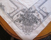 Louis Nichole french toile linen tablecloth rectangle 64X84
