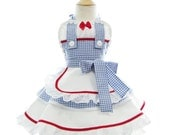 Children's Dorothy costume Apron - for kids - Cute Girls Wizard of Oz Princess Costume Apron for Dress Up & Play
