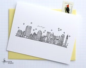 Santiago, Chile - South America  - City Skyline Series - Folded Cards (6)
