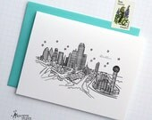 Dallas, Texas - United States - City Skyline Series -  Folded Cards (6)