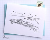 Punta Cana, Dominican Republic - Caribbean - City Skyline Series - Folded Cards (6)